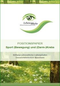 2017-LebensBlicke Positionspapier Sport+Krebs-Titel
