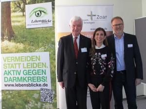 Kooperation Zoar(v.l.n.r.) Prof. Dr. Jürgen F. Riemann, Nadja Bier Peter Kaiser
